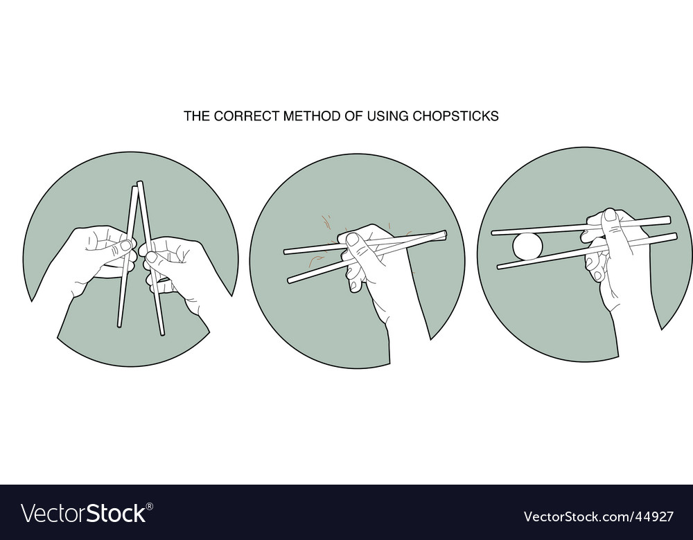 Chopsticks instructions vector | Price: 1 Credit (USD $1)