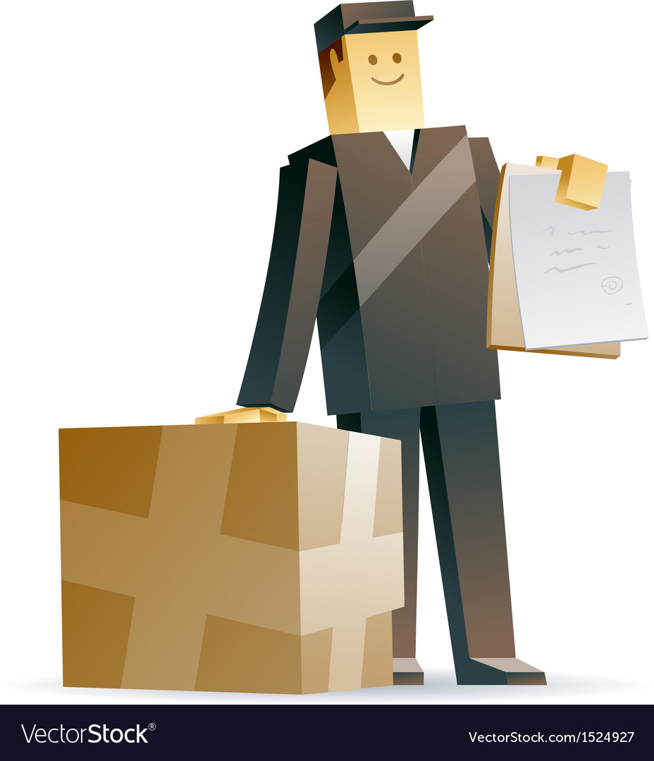 Delivery man vector | Price: 3 Credit (USD $3)