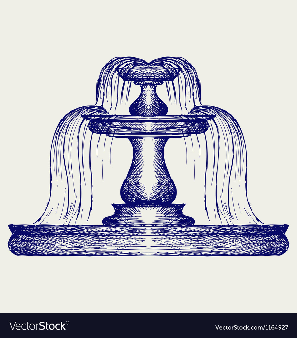 Fountain vector | Price: 1 Credit (USD $1)