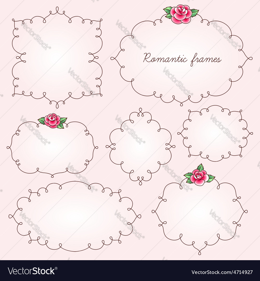 Frames flowers vector | Price: 1 Credit (USD $1)