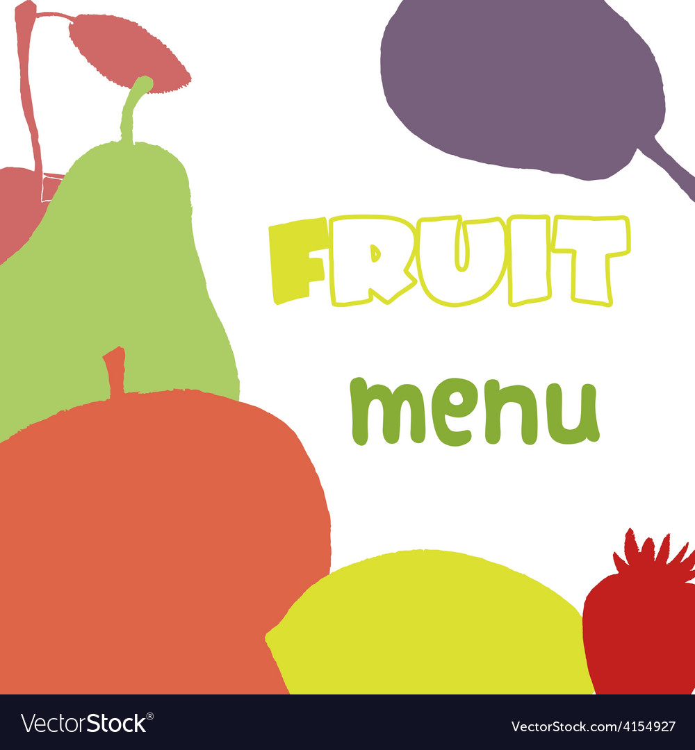 Fruits menu design template healthy food vector | Price: 1 Credit (USD $1)