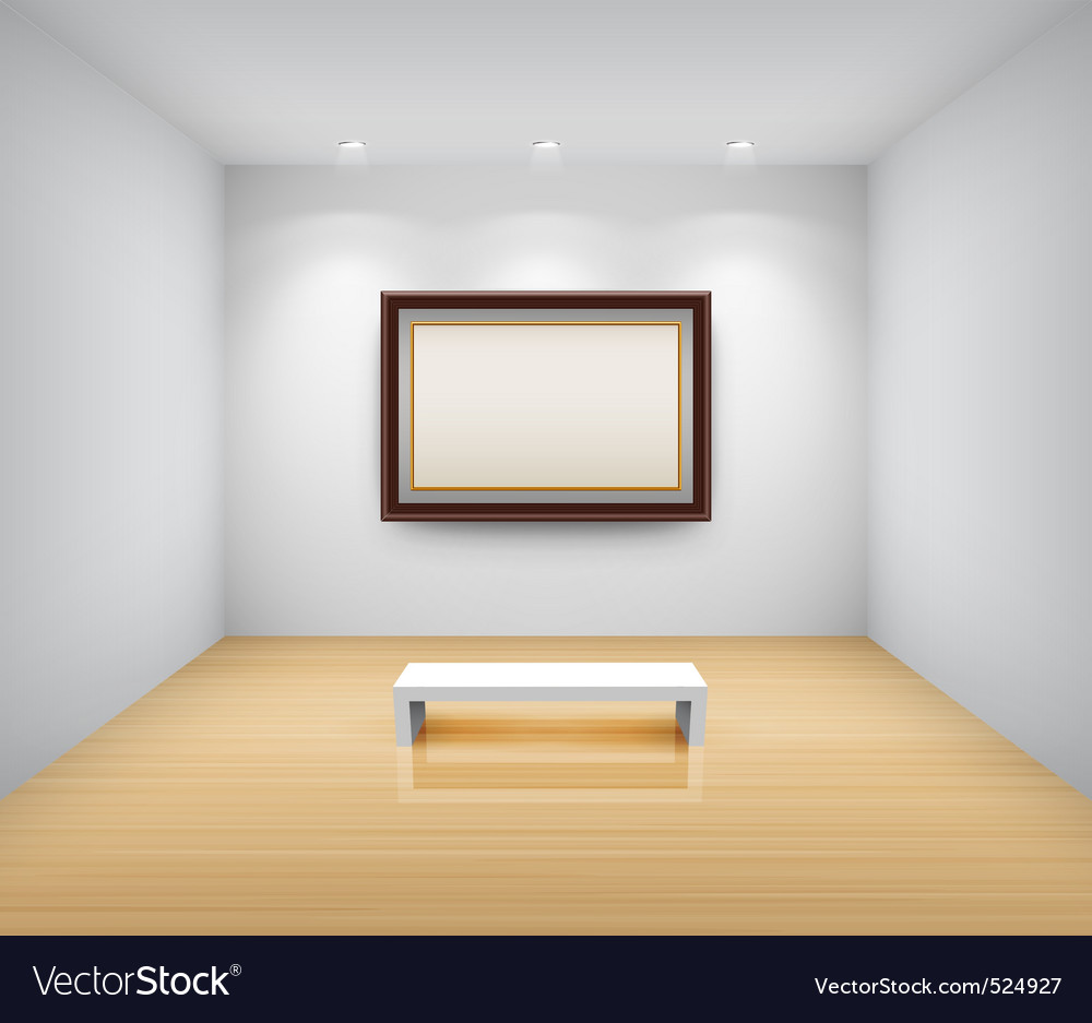 Gallery interior with empty vector | Price: 3 Credit (USD $3)