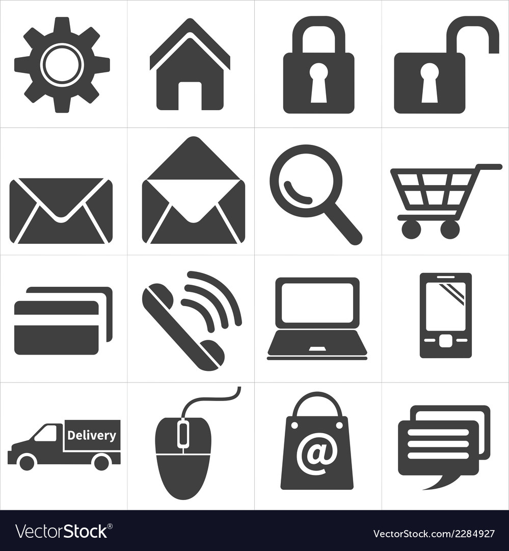 Icon e commerce and shopping vector | Price: 1 Credit (USD $1)