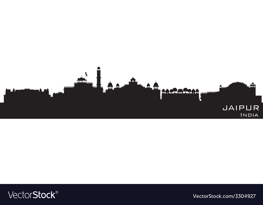 Jaipur india skyline detailed silhouette vector | Price: 1 Credit (USD $1)