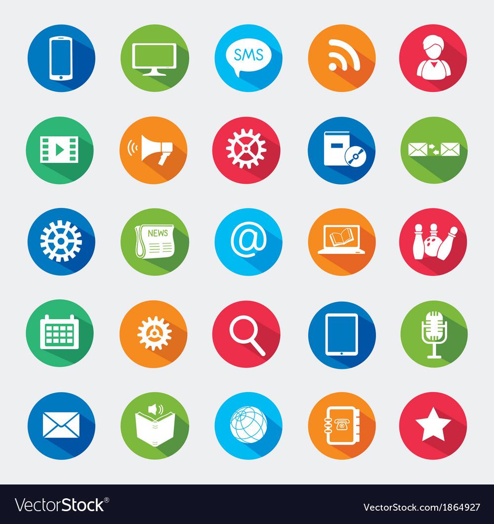 Modern media design elements vector | Price: 1 Credit (USD $1)