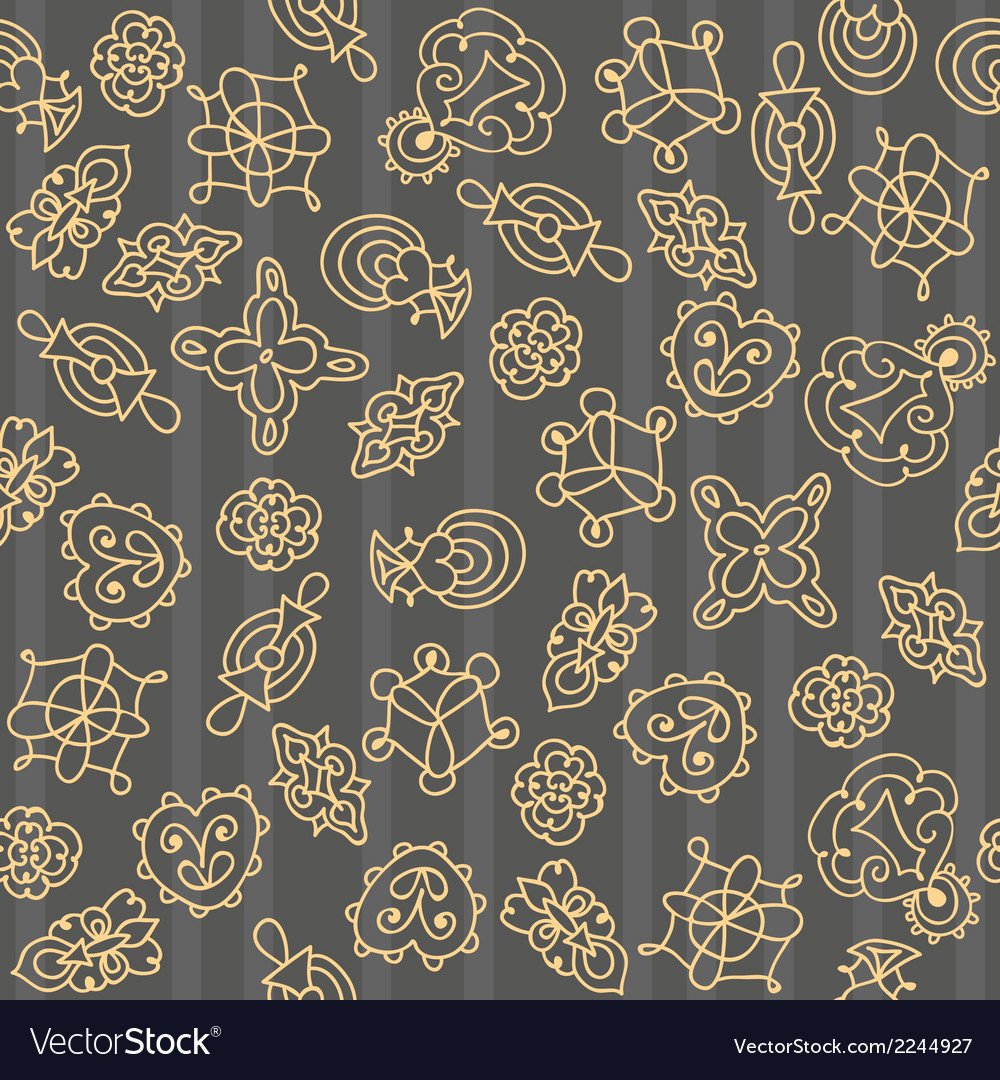 Ornate floral seamless hand drawn pattern vector | Price: 1 Credit (USD $1)