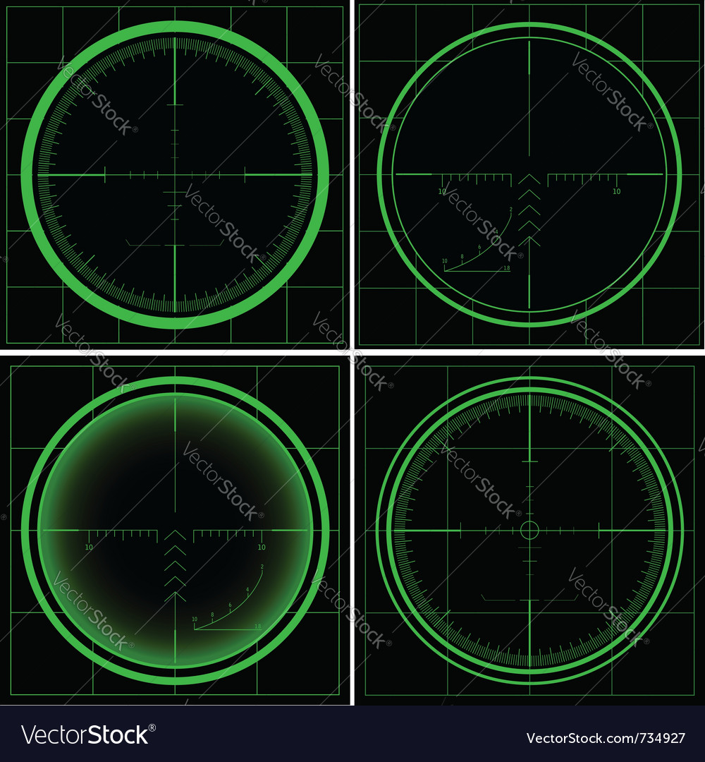 Radar screen or sniper sight vector | Price: 1 Credit (USD $1)