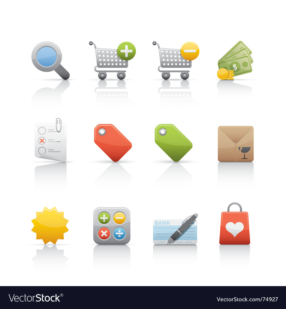 Shopping icons vector   Price: 1 Credit (USD $1)