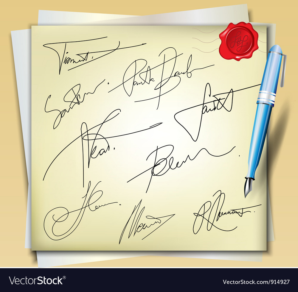 Signatures vector | Price: 1 Credit (USD $1)