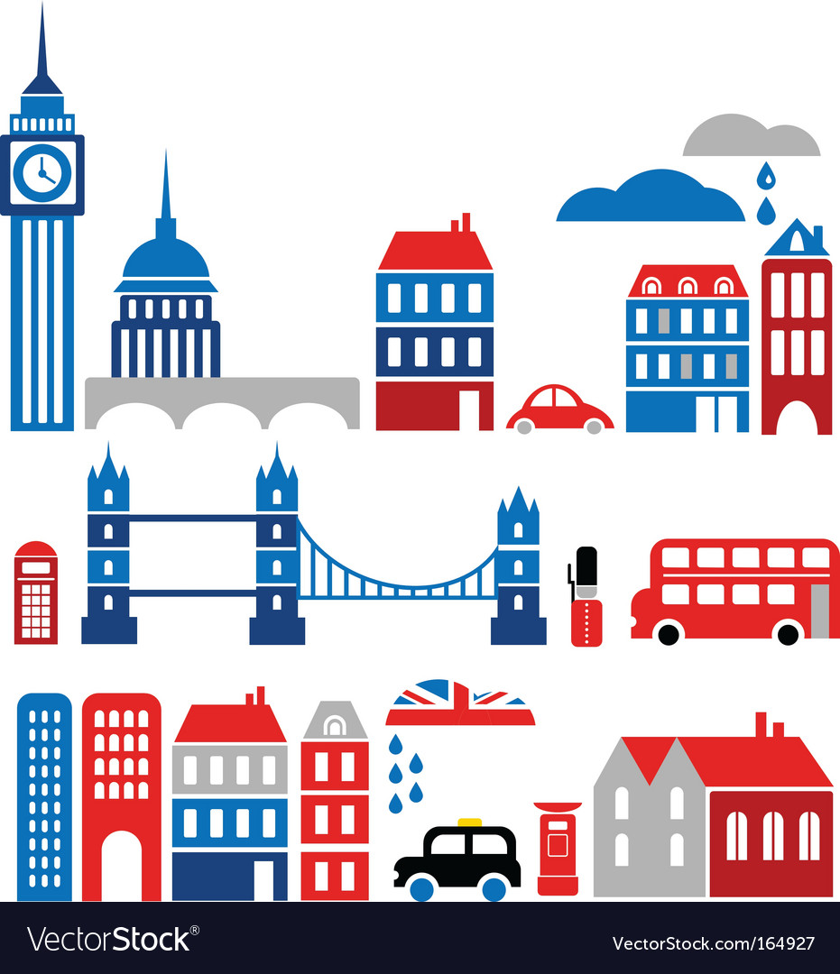 Silhouettes of european cities lond0n vector | Price: 1 Credit (USD $1)