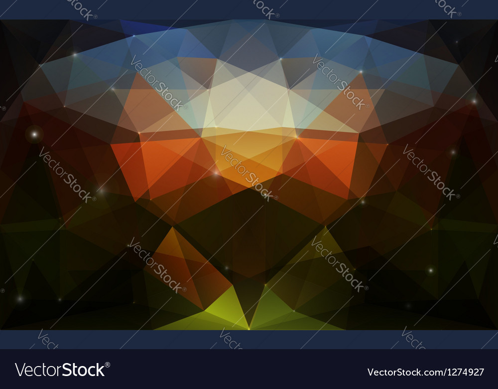 Triangular colorful dark texture vector | Price: 1 Credit (USD $1)