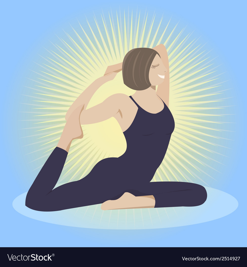 Woman doing yoga practice vector | Price: 1 Credit (USD $1)