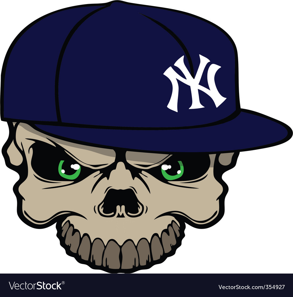 Yankee skull vector | Price: 1 Credit (USD $1)