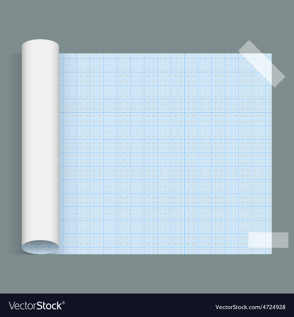Big sheet of squared paper whatman fixed an tape vector | Price: 1 Credit (USD $1)