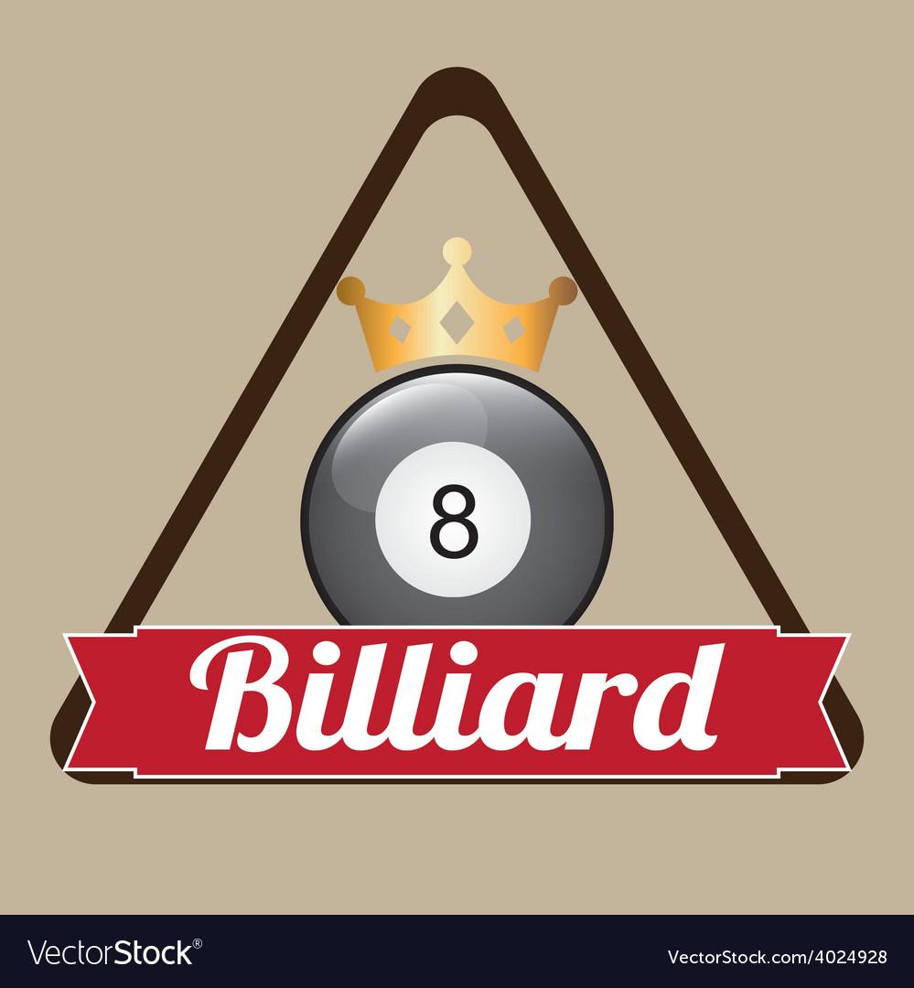 Billiard emblem vector | Price: 1 Credit (USD $1)