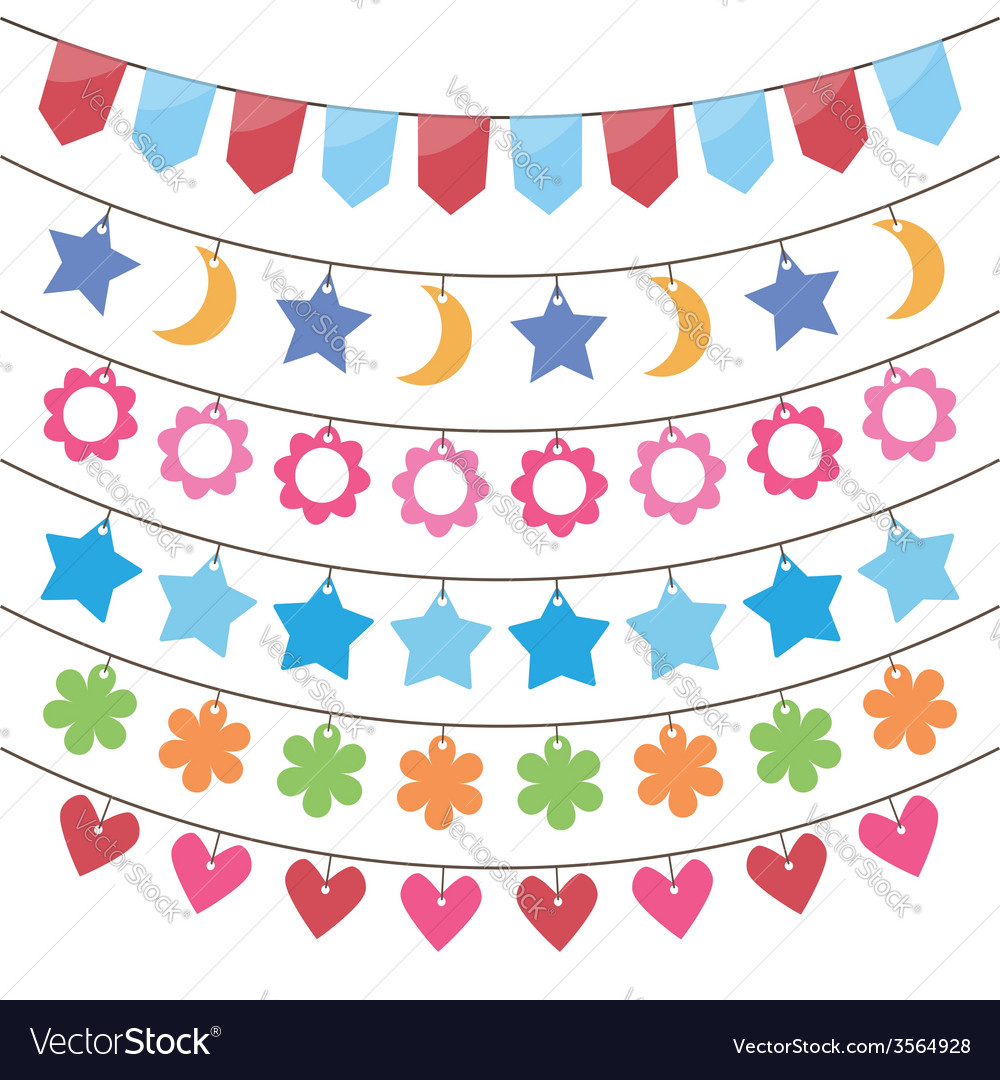 Bunting and party flags vector | Price: 1 Credit (USD $1)