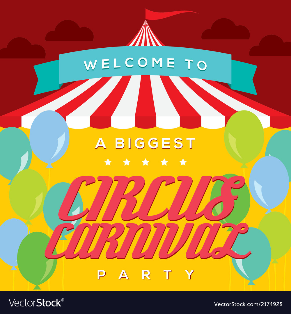 Circus carnival poster template vector | Price: 1 Credit (USD $1)