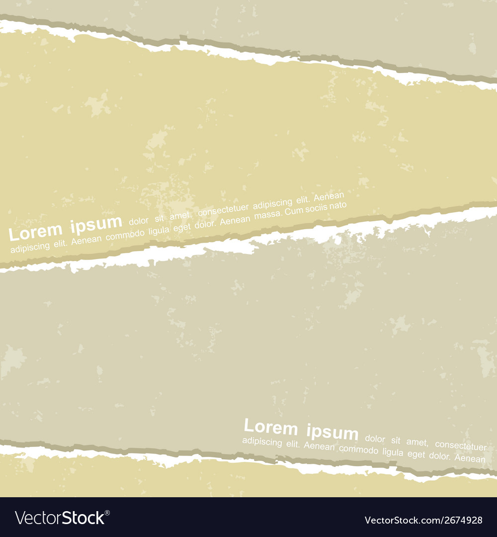 Design with different torn papers vector | Price: 1 Credit (USD $1)