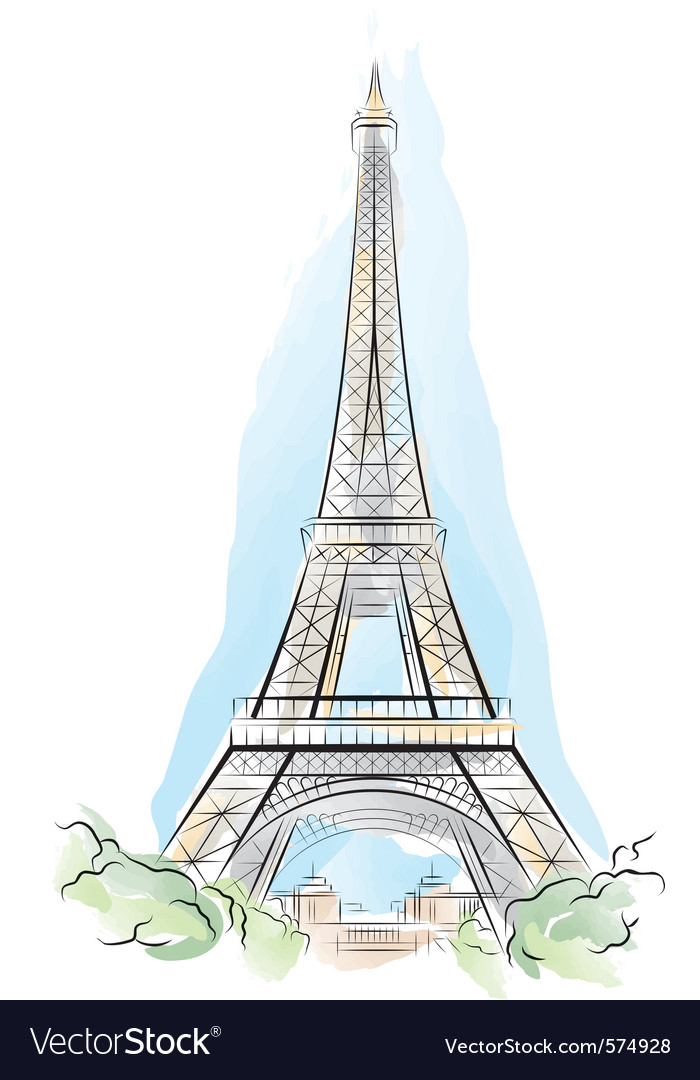 Eiffel tower france vector | Price: 3 Credit (USD $3)