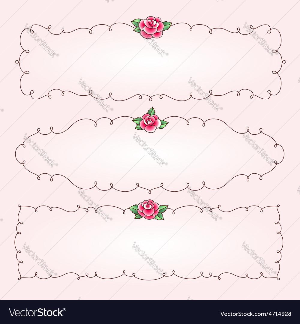 Frames flowers horizontal vector | Price: 1 Credit (USD $1)