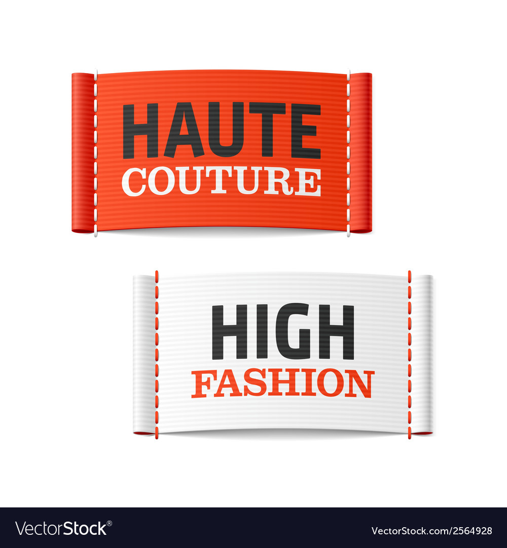 Haute couture and high fashion clothing labels vector | Price: 1 Credit (USD $1)