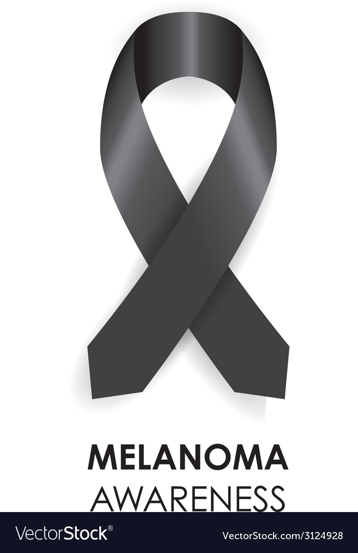 Melanoma ribbon vector | Price: 1 Credit (USD $1)