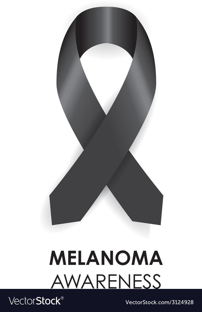 Melanoma ribbon vector | Price: 1 Credit (USD $1)
