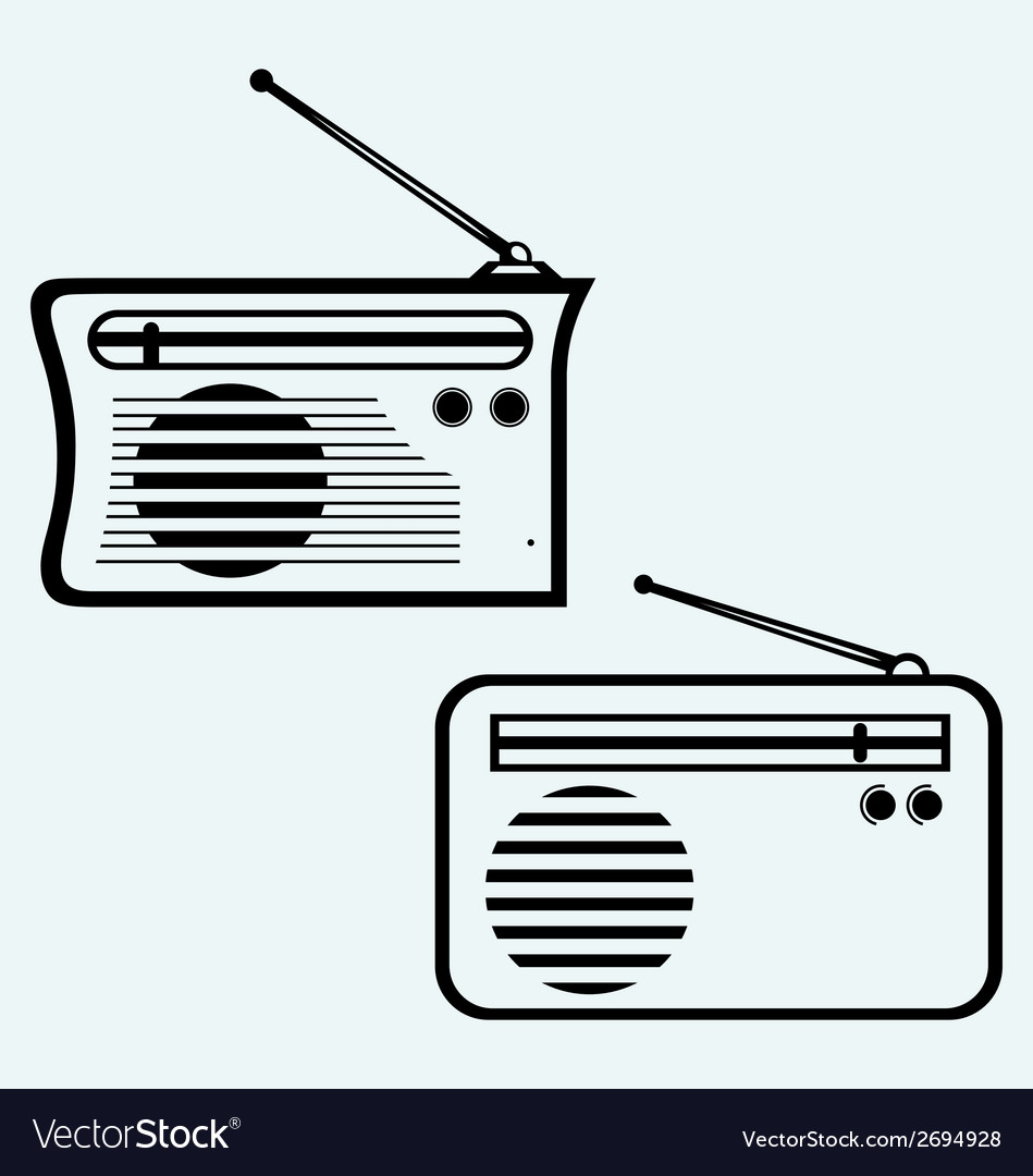 Old radio receiver vector | Price: 1 Credit (USD $1)