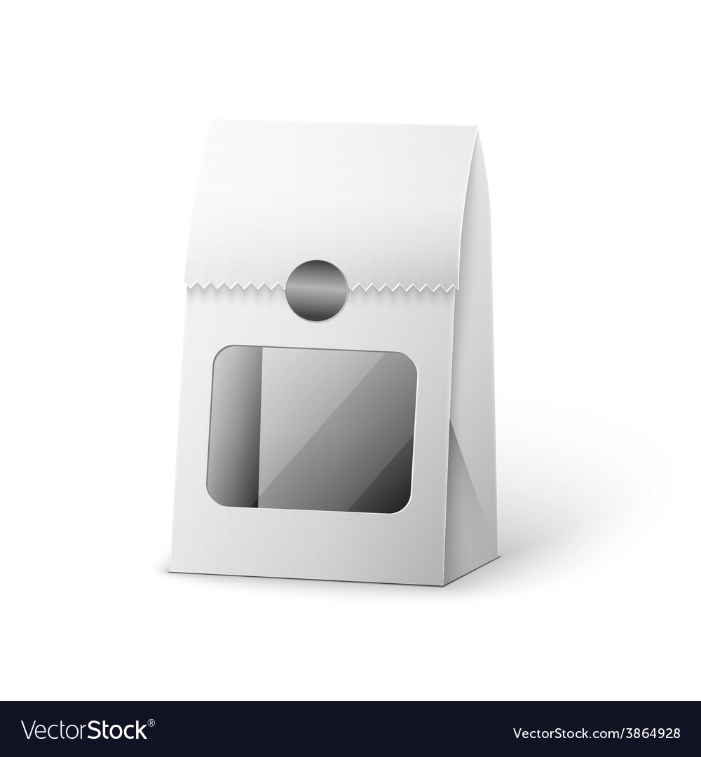 Paper bag package of coffee salt sugar pepper vector | Price: 1 Credit (USD $1)