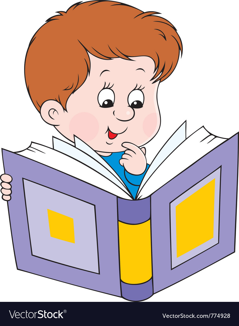 Reading boy vector | Price: 3 Credit (USD $3)