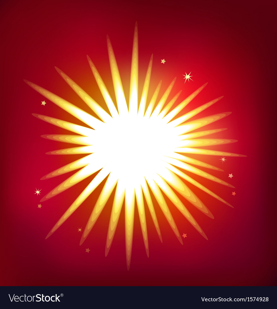 Shiny star isolated on red background vector | Price: 1 Credit (USD $1)