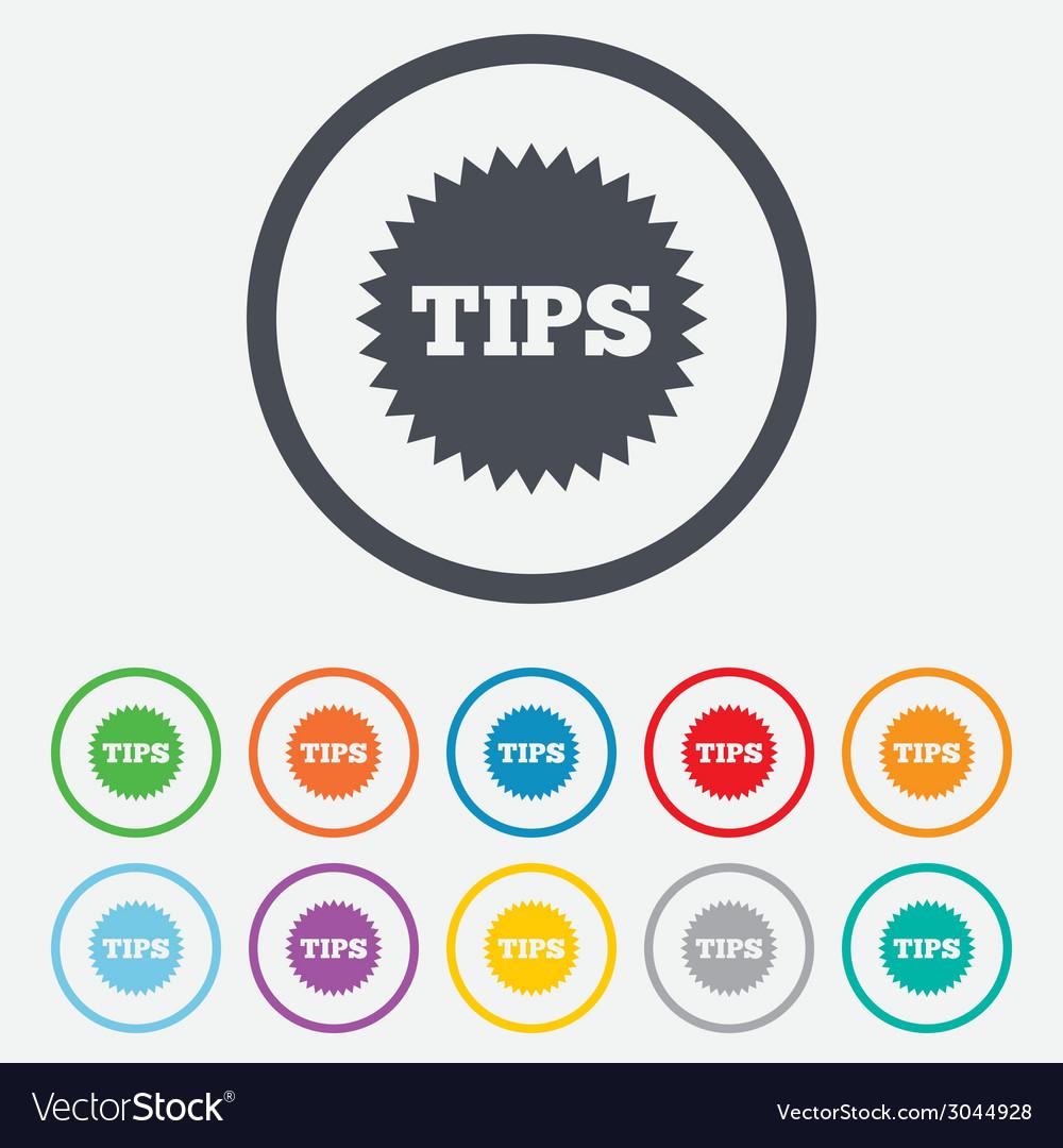 Tips sign icon star symbol vector | Price: 1 Credit (USD $1)