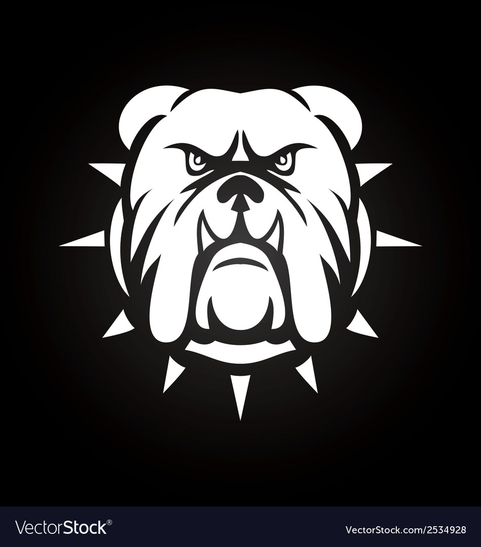 White bulldog face vector | Price: 1 Credit (USD $1)