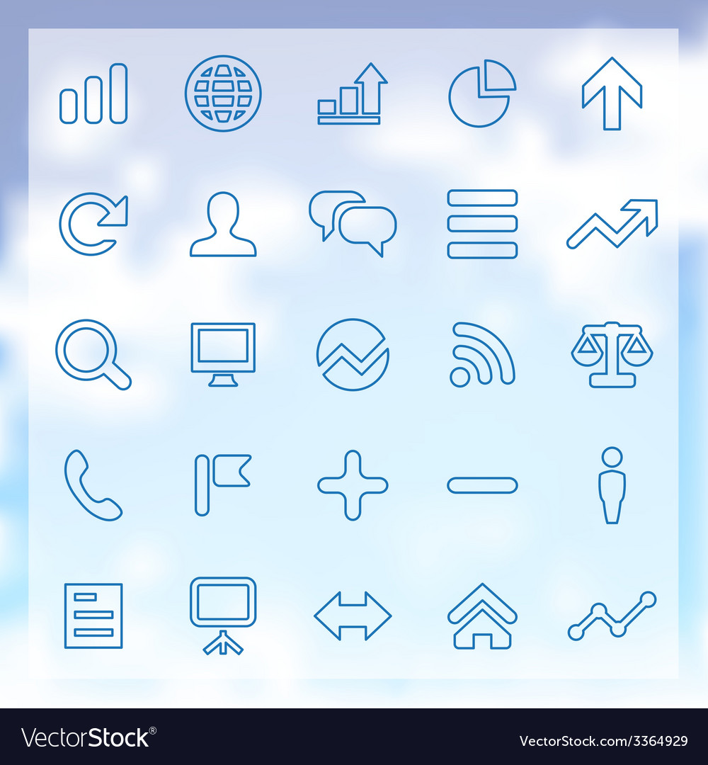 25 analytics research icons set vector | Price: 1 Credit (USD $1)