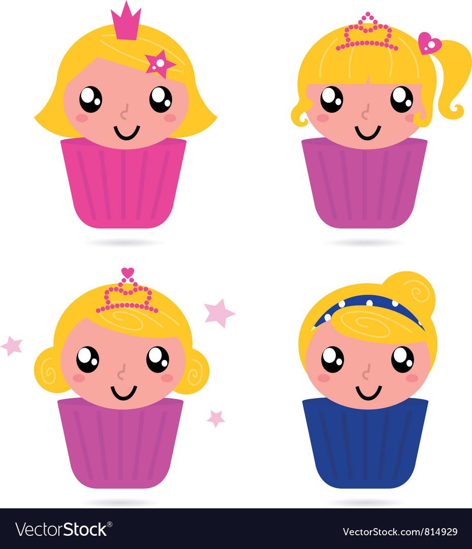 Cute little princess vector | Price: 1 Credit (USD $1)