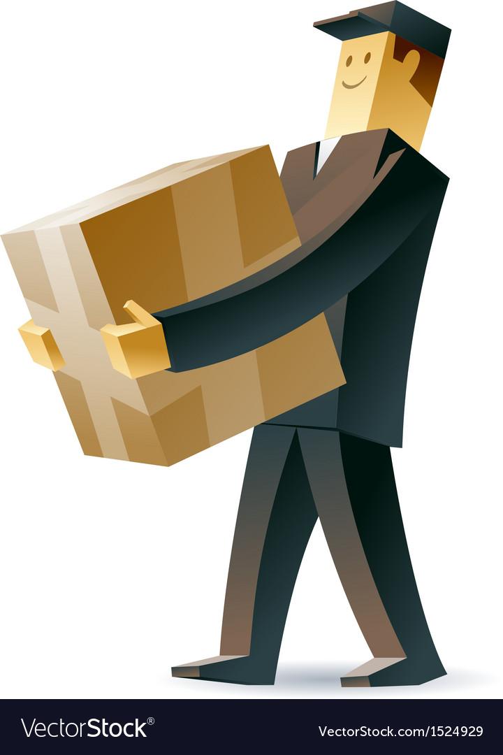 Delivery man vector | Price: 1 Credit (USD $1)
