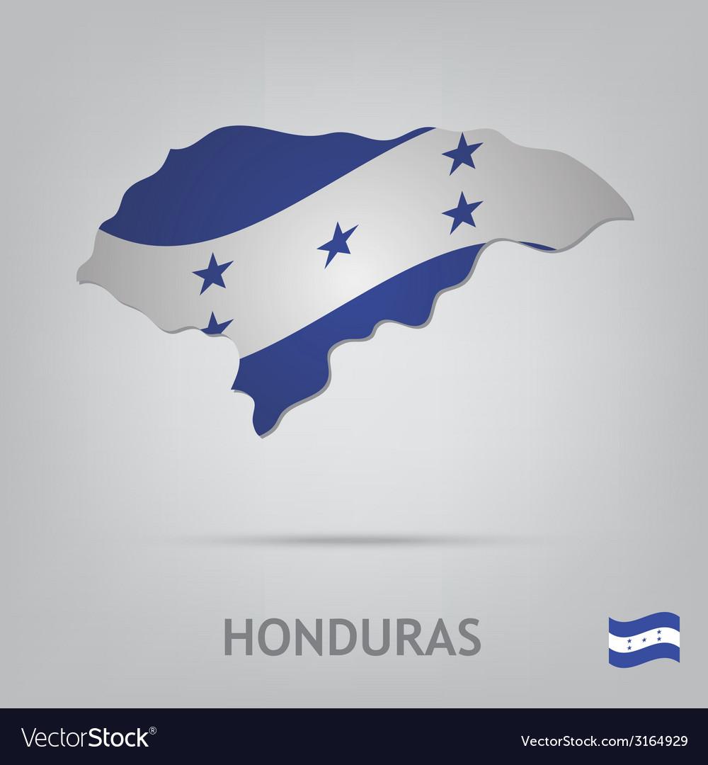 Honduras vector | Price: 1 Credit (USD $1)