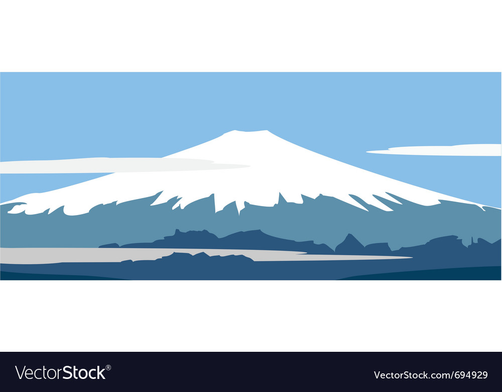 Panorama of fujiyama vector | Price: 1 Credit (USD $1)