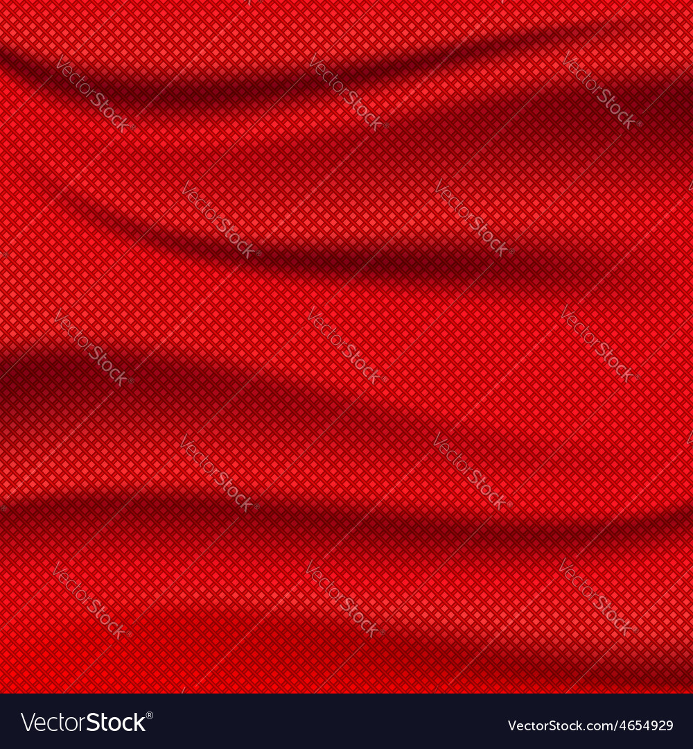 Red fabric texture wave background vector | Price: 1 Credit (USD $1)