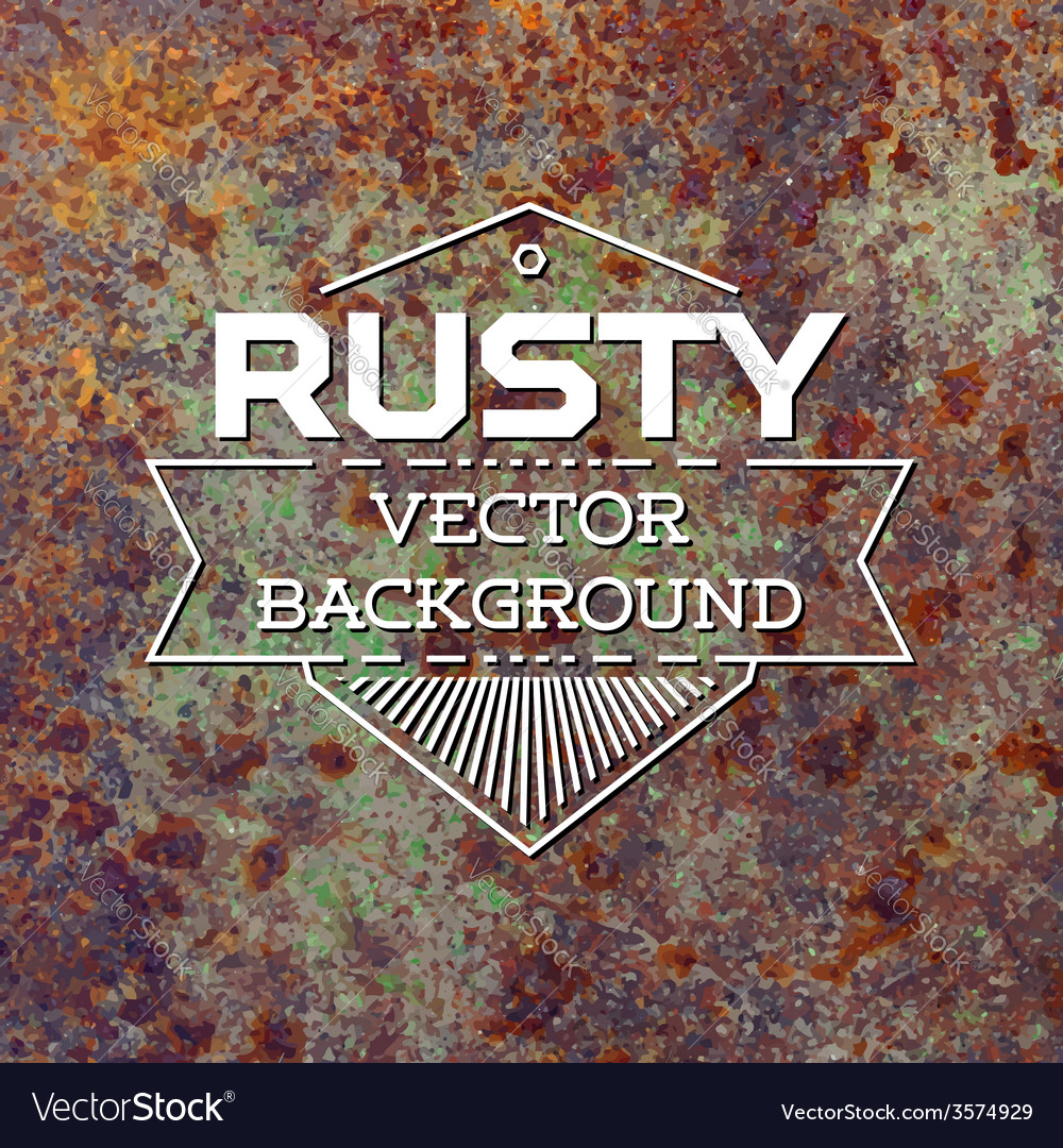 Rusty metal background vector | Price: 1 Credit (USD $1)