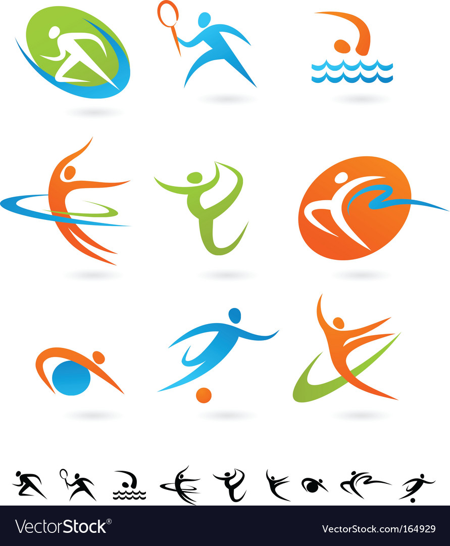 Sport silhouette vector | Price: 1 Credit (USD $1)