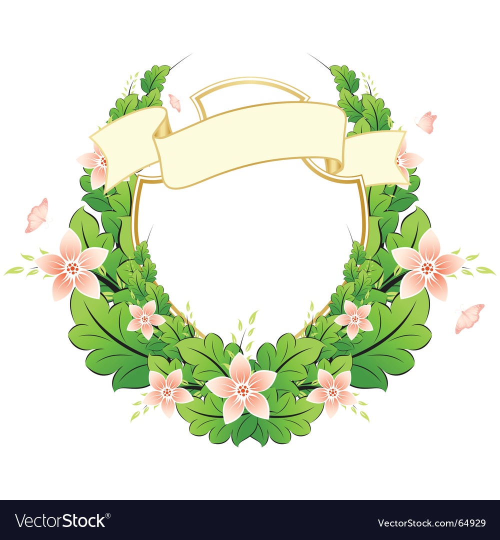 Spring frame with flowers vector   Price: 1 Credit (USD $1)