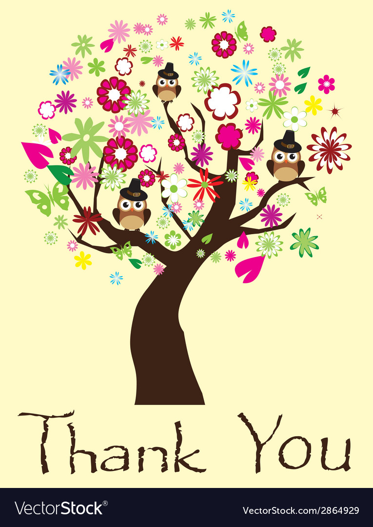 Thank you tree vector | Price: 1 Credit (USD $1)