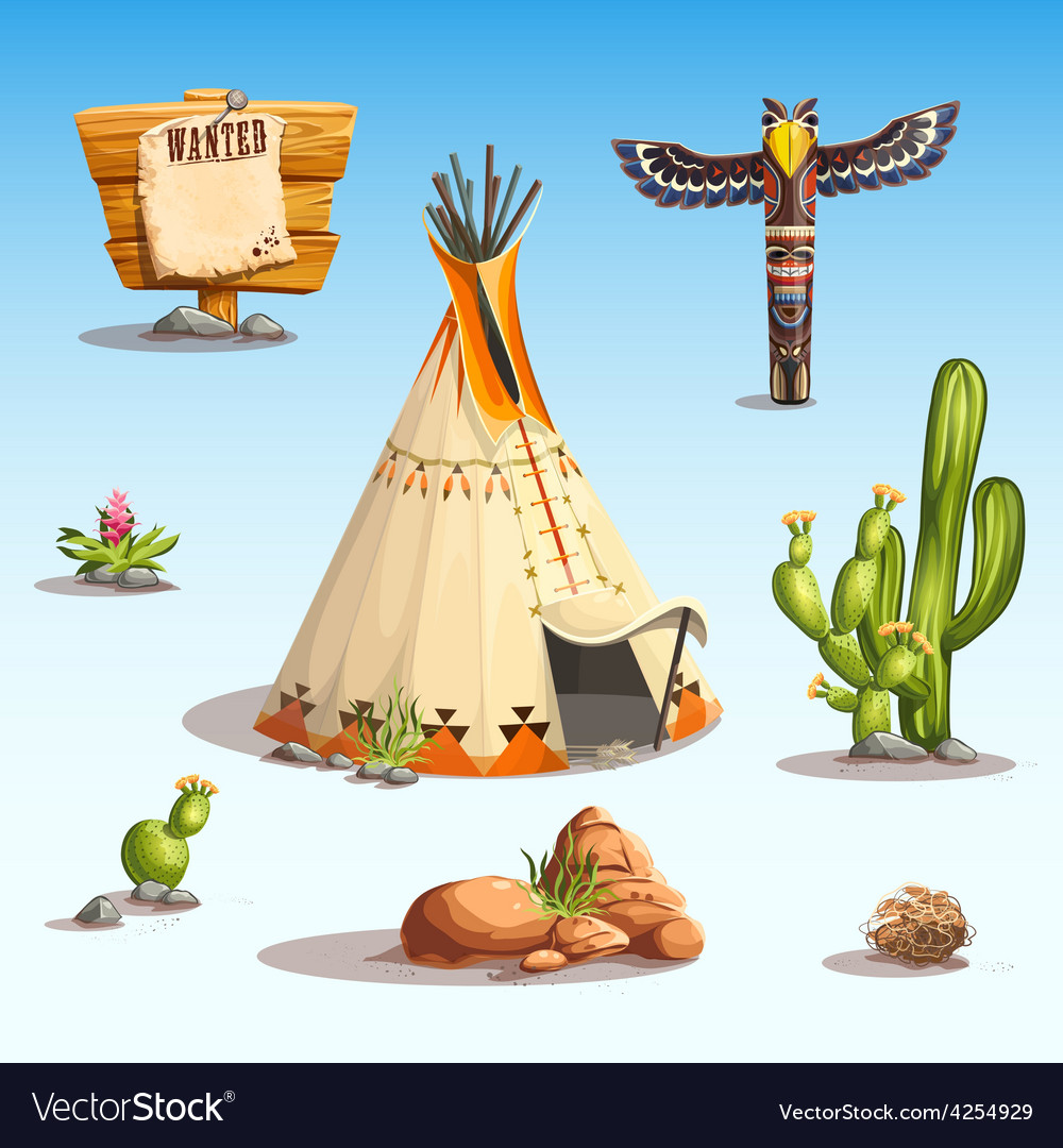 Wild west set vector | Price: 5 Credit (USD $5)