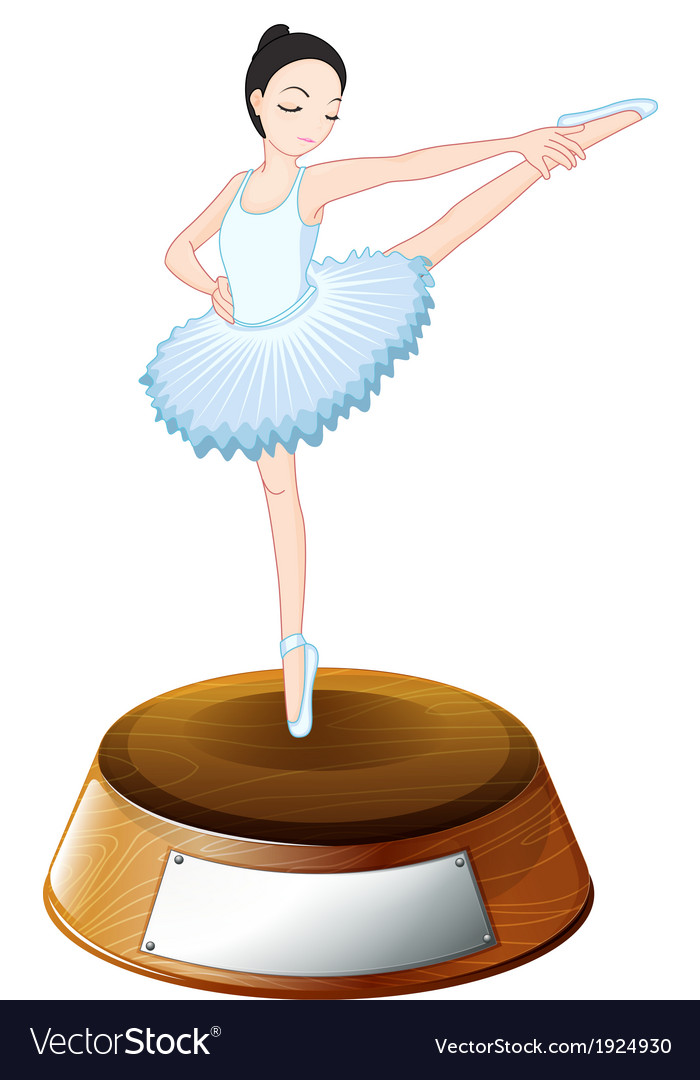 A ballet dancer above the trophy stand with an vector | Price: 3 Credit (USD $3)
