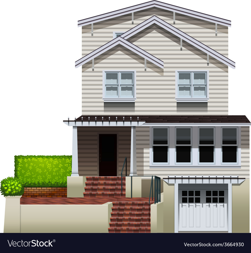 A multi-story house vector | Price: 3 Credit (USD $3)