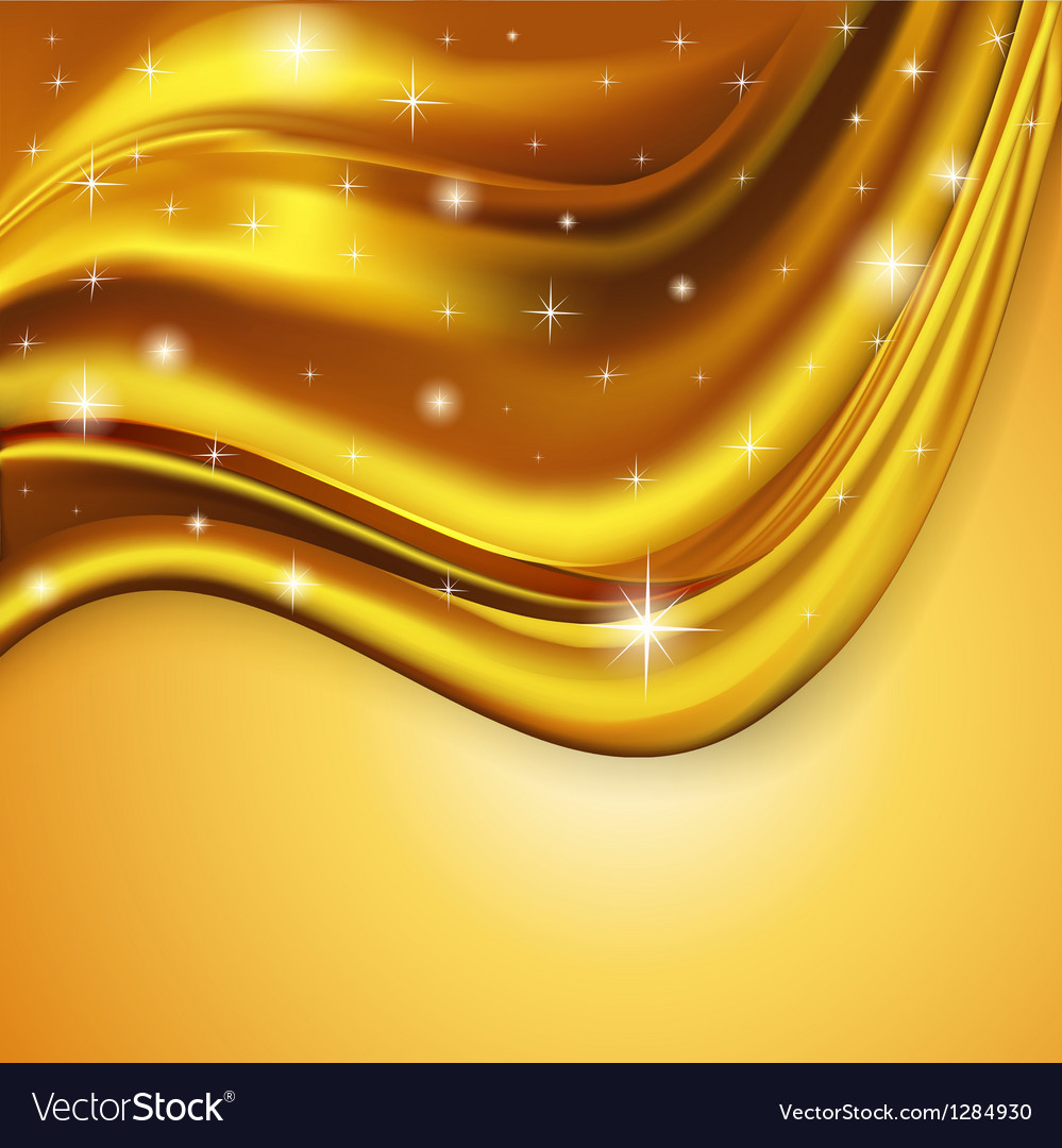 Background fabric satin gold vector | Price: 1 Credit (USD $1)
