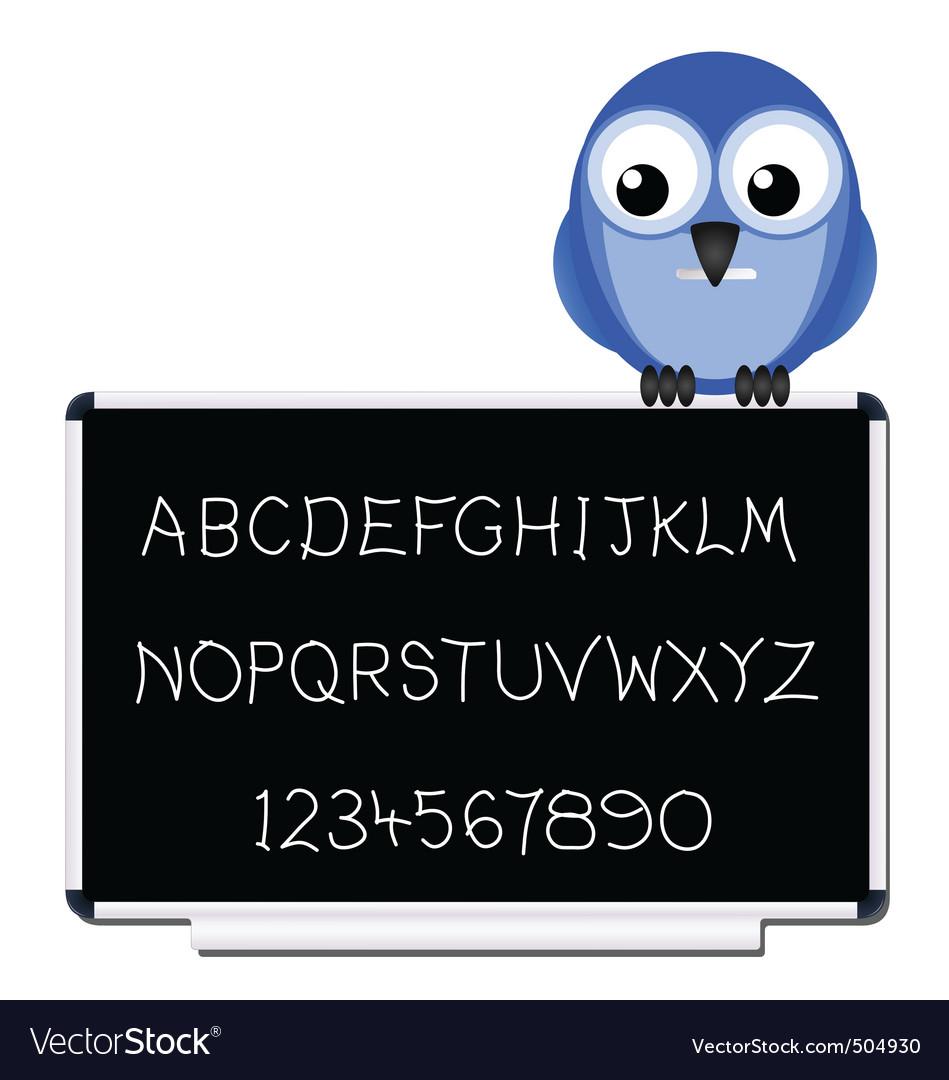 Bird blackboard vector | Price: 1 Credit (USD $1)