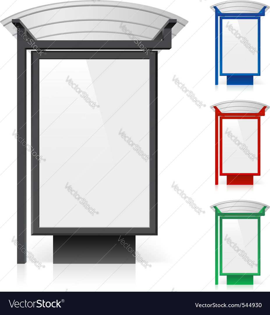 Bus shelter billboard vector | Price: 3 Credit (USD $3)