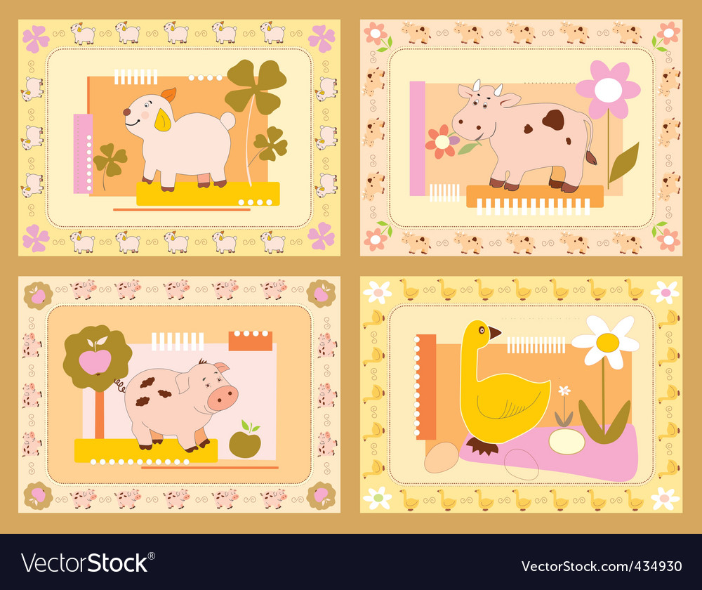 Cheerful animals vector | Price: 1 Credit (USD $1)